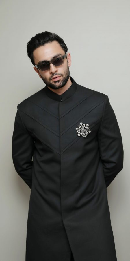 Black Indowestern set